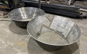 Вальцовка конуса из нержавеющей стали