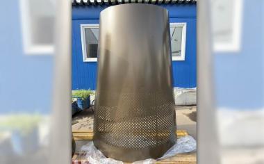 Декоративная конусообразная колонна из листа 1,5 мм