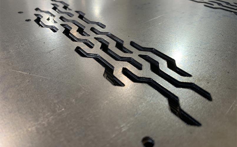 Лазерная резка оцинкованной стали