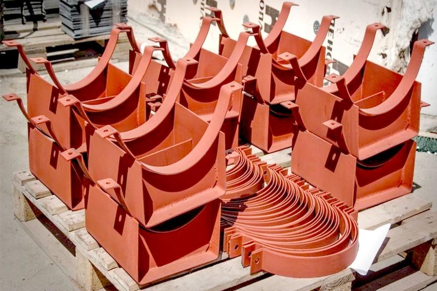 Скользящие (подвижные) опоры трубопровода